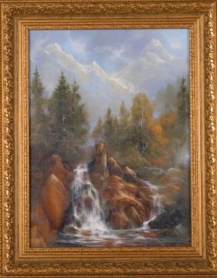 Водопад в горах. Донбай
