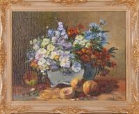 Цветы и персики_1