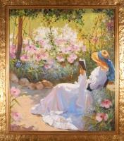 Дама в саду